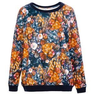 Pull & Bear Neoprene flower sweatshirt